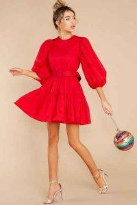Puffy-sleeve-dress